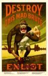 WWI American - The Kaiser as a gorilla.