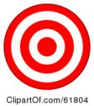 61804-Royalty-Free-RF-Clipart-Illustration-Of-A-3d-Red-And-White-5-Ring-Bullseye-Target