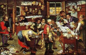 800px-Pieter_Brueghel_the_Younger,_'Paying_the_Tax_(The_Tax_Collector)'_oil_on_panel,_1620-1640._USC_Fisher_Museum_of_Art
