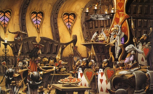 rodney_matthews_alice in wonderland_the knave on trial