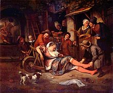 220px-The_wine_is_a_mocker_1663-1664_Jan_Steen