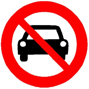 Image result for no driving allowed