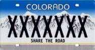 Colorado Share Road Plate