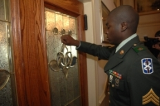 Soldier Knocking On Door