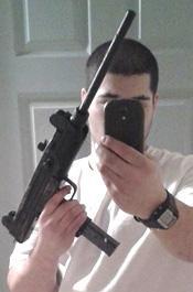 Sub-Machine Gun Selfie
