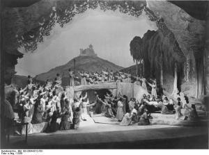 """Bayreuth, Festspiele, """"Tannhäuser"""", Schluss"""