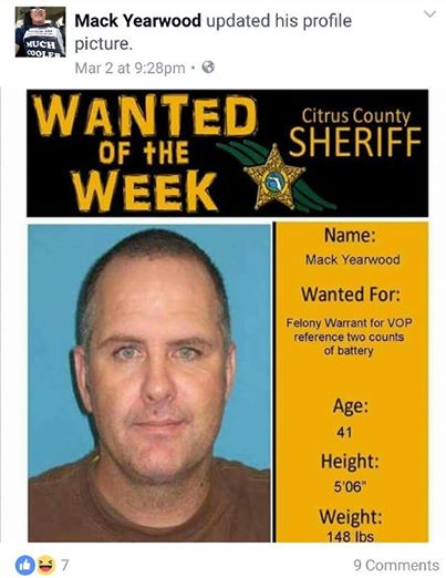 Facebook Felon: Ohio Man Posted Wanted Poster As Facebook Picture ...