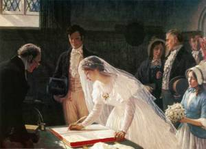 Edmund_Blair_Leighton_-_signing_the_register